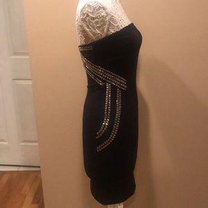 Guess black strapless dress